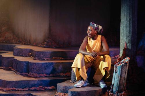 Ronkẹ Adékoluẹjo in 'Lava' at the Bush Theatre. Photo credit Helen Murray_47