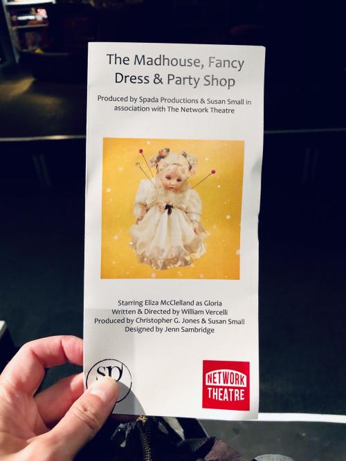 Madhouse fancy dress party shop flyer