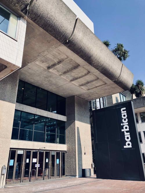 Barbican Theatre entrance March 2021