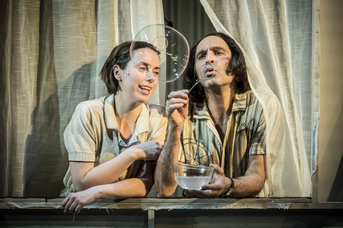 The Two Character Play Image 4 L-R Kate O%u2019Flynn  Zubin Varla Photo © Marc Brenner