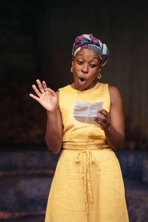 Ronkẹ Adékoluẹjo in 'Lava' at the Bush Theatre. Photo credit Helen Murray_37