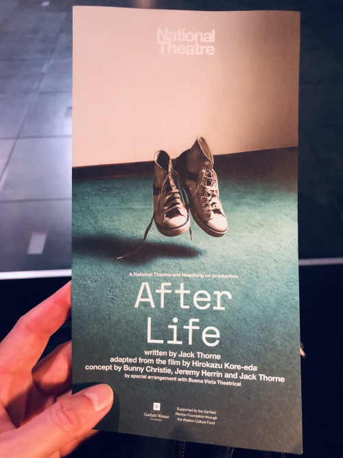 After Life flyer at the National Theatre