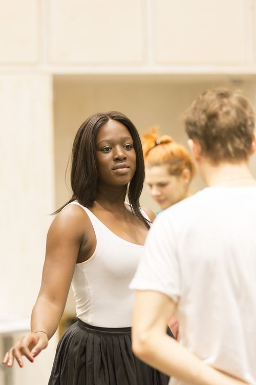 Jennifer Saayeng (Emilie) in rehearsals for Les Liaisons Dangereuses Photographer Johan Persson