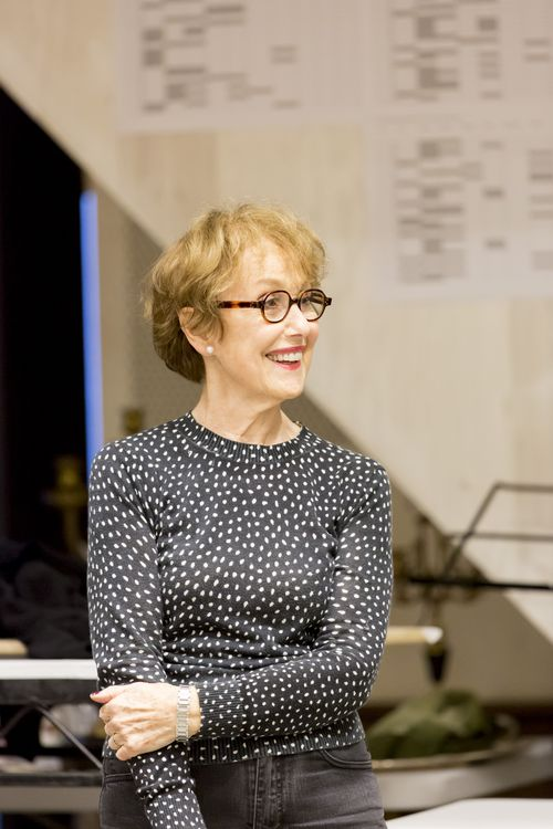 Una Stubbs (Madame de Rosemonde) in rehearsals for Les Liaisons Dangereuses Photographer Johan Persson